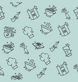restaurant concept icons pattern vector image