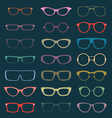 Retro Glasses Silhouettes vector image
