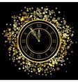 Shiny New Year Clock vector image