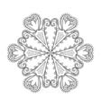 Zentangle elegant snow flake winter for decoration vector image