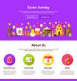 easter sunday website design vector image