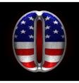 American metal figure o vector image
