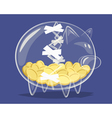 Repaired glass piggy bank vector image
