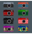 Set of Retro Cameras hipster style vector image vector image