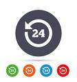 24 hours customer service clock support vector image