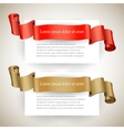 Sale label set Blank paper with ribbon vector image vector image
