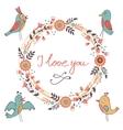 Elegant love card vector image