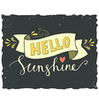 Hello sunshine vector image