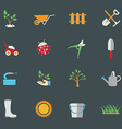 Environmental activities Gardening icons set vector image