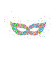 carnival mask pattern vector image