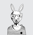 fashion of rabbit man vector image