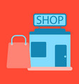 Flat icon shop package vector image