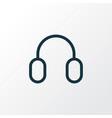 headphone outline symbol premium quality isolated vector image