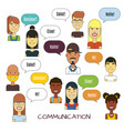 people communication vector image