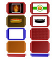 set of colorful salvers vector image