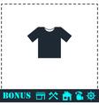 Tshirt icon flat vector image