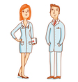 Two doctors characters vector image
