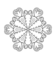 Zentangle elegant snow flake winter for decoration vector image