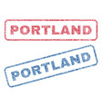 portland textile stamps vector image