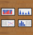 set of tablets report economic vector image