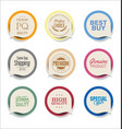 modern bubble speech sticker collection vector image