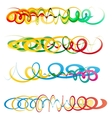 Colorful abstract curly ribbon headers vector image