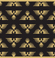 abstract seamless pattern with heraldic eagles vector image