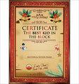 Certificate the best kid in the block vector image