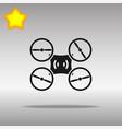 drone black icon button logo symbol vector image