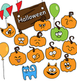 funny icons Halloween vector image