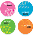Set Of Four Abstract Banners vector image