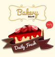 Strawberry cheesecake and banner vector image