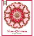 sugar candies holiday card vector image