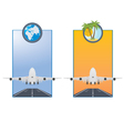 Taking off airplane vector image