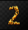 tribulation numbers 2 of candles vector image