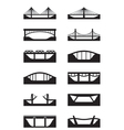 Different types of bridges vector image vector image