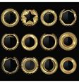 Golden Medal Black Label Set vector image