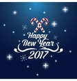 happy new year 2017 greeting card lighting candy vector image