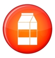 Box of milk icon flat style vector image