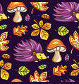 autumn seamless pattern with chestnut and oak vector image vector image