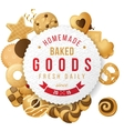 Baked goods label with type design vector image vector image