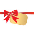 bow decoration vector image vector image