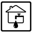 water icon from the set line style vector image