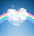 Heart Shape Cloud with Rainbow vector image