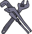 two adjustable wrenches vector image