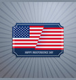 american independence day badge vector image