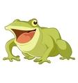 Cartoon smiling frog vector image