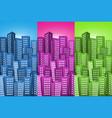 Cityscape backgrounds set vector image