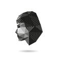 Fashion woman silhouette vector image