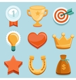 flat gamification icons Achievement badges vector image